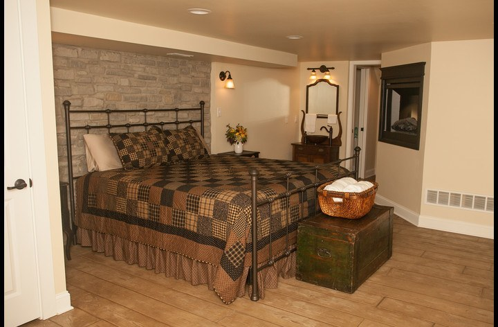 Master Suite with two-sided fireplace