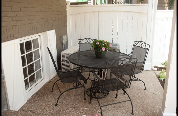 Back patio seating