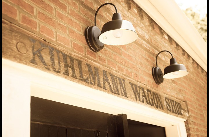 Kuhlmann Wagon Shop sign from the original Wheelwright business