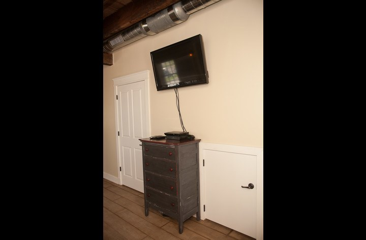 Flat screen and DVD player