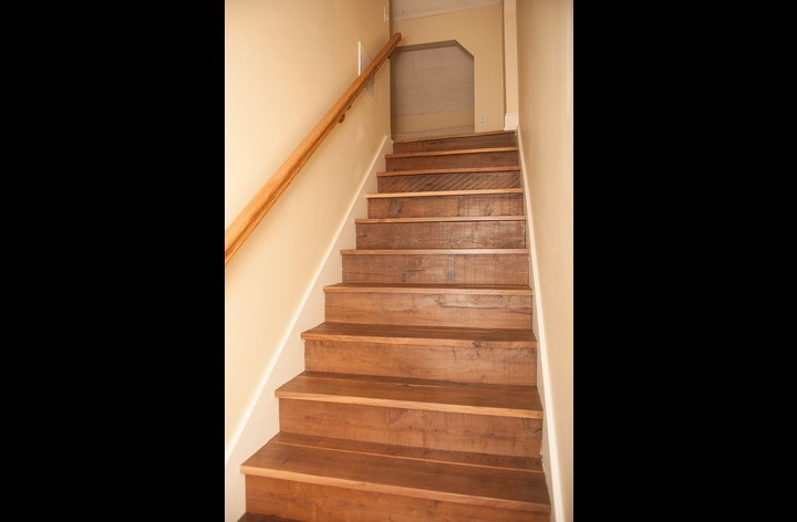Walnut stairs to the 2nd floor